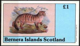 {B019} BERNERA SCOTLAND Wild Cats I S/S 1,00 £ MNH** Local Issue !!! - Emissions Locales