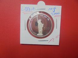 LIBERIA 10$ 2000 ARGENT QUALITE SUPERBE/FDC (A.9) - Liberia