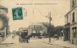 ARGENTEUIL - Rue Nationale Et Avenue De La Gare. - Argenteuil