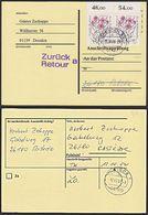 Alpenblumen Fleischers Weidenröschen Rastede BRD MiNr. 1190 (2), Anschriftenprüfung - Covers
