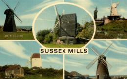 E 0663 - Angleterre  Sussex       Rottingdean   Rye   Mayfield  Selsey   Salvington Vues Des    Moulins - Rye