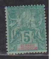MADAGASCAR -SAINTE MARIE      N°  YVERT  4       NEUF AVEC CHARNIERES      ( CHARN  03/ 37 ) - Madagascar - Sainte-Marie (1894-1898)