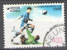 Korea, South 1996 Used Football, Soccer, World Cup 2002, South Korea And Japan - Corea Del Sur