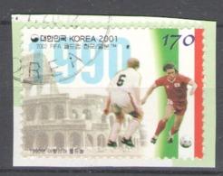 Korea, South 2001 Used Football, Soccer, World Cup 2002, South Korea And Japan - Corea Del Sur