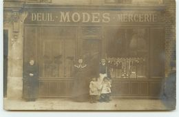 Carte Photo à Localiser - Magasin De Modes (deuil, Mercerie) - Geschäfte