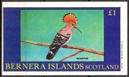 {B054} Birds IX Hoopoe S/S 1,00 £ MNH** LABEL Cinderella !! - Fantasie Vignetten