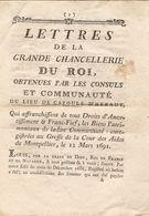 Vieux Papier De  L'Hérault, Cazouls Lès Béziers, 1691, Exemption Des Droits De Franc-fief, Liste Des Possessions, Noms - Historical Documents