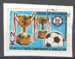 Myanmar 2004 Used Football, Soccer, The 100th Anniversary Of FIFA - Myanmar (Burma 1948-...)