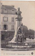 77 FONTAINEBLEAU  Monument Carnot ,façade Magasin Lamorelle ,marcophilie Tampon Médecin Chef ,hôpital Militaire  Moret - Fontainebleau
