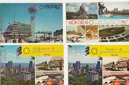 20 / 6 / 79. -  EXPO67  À  MONTRÉAL  -  LOT. DE  12. CPA  - TOUTES  SCANÉES - Montreal
