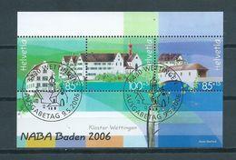 2006 Switzerland Complete M/Sheet NABA Used/gebruikt/oblitere - Blocs & Feuillets
