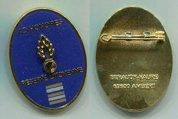 X507 INSIGNE GENDARMERIE Réserve Citoyenne De La Gendarmerie Nationale, Lieutenant Colonel - Police & Gendarmerie