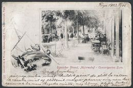 Latvia: Riga, Rigascher Strand, Majorenhof - Concertgarten Horn. 1903 - Lettonia