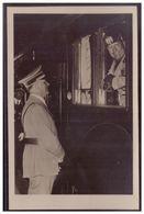 Dt.- Reich (007969) Propagandakarte Der Führer (A.Hitler) Und Der Duce (Musolini) Am Zug Mit SST,Berlin, München Hameln - Germania