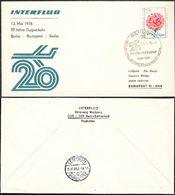 Berlin - Budapest Berlin SoSt. 20 Jahre INTERFLUG Blume DDR 2037 Auslands-Drucksache Luftpostbrief Nach - Covers