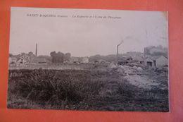 CPA 80 SOMME SAINT RIQUIER. La Rapperie Et L Usine De Phosphate. - Saint Riquier