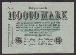 Reichsbanknote 100.000 Mark Vom 25.7. 1923 Serie V, Inflation - [ 3] 1918-1933 : República De Weimar