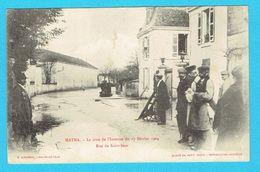 CPA MATHA La Crue De L'Intenne Du 17 Février 1904 Rue De Saint Jean 17 Charente Maritime - Matha