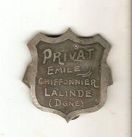 Rare Plaque De Métier En Fer Blanc, Chiffonnier Emile Privat à Lalinde (Dordogne), Vers 1900 - Other Collections