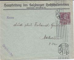 Österreich Austria Privatganzsache PU 3 H Hochschule Salzburg 1912 - Interi Postali