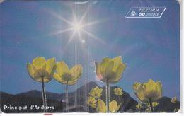 AND-112 TARJETA DE ANDORRA DE FLORES (FLOWER-FLOR) NUEVA-MINT CON BLISTER - Andorre