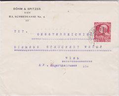 Österreich Austria Privatganzsache PU 10 H Böhm & Spitzer Wien 1908 - Interi Postali