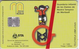 AND-100  TARJETA DE  ANDORRA DE DAMAS MERITXELL  NUEVA-MINT - Andorre