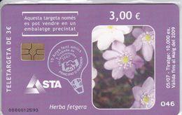 ¡¡OFERTA!! AND-156/a TARJETA DE ANDORRA HERBE FETGERA TIRADA 100 NUEVA-MINT (FERIA COLECCIONISTAS DE ANDORRA) - Andorre