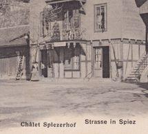 OUDE POSTKAART ZWITSERLAND - SCHWEIZ - SPIEZ -  CHALET SPIEZERHOF  1900'S - BE Berne