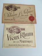 Etiquette Vieux  RHUM De La Martinique - Rhum