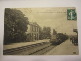 Cpa PLEINE-FOUGERES (35)  L'arrive Du Train - Altri Comuni