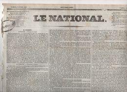 LE NATIONAL 02 04 1831 - AUTRICHE POLOGNE - BRUXELLES - LUXEMBOURG - DECES DE HEROCHANT BLESSE JUILLET 1830 - MURCIE - - Zeitungen