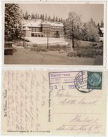 Bad Karlsbrunn, Ostsudeten, Kurhotel, 1939 Ger. AK M. Landpost Stempel - Germany