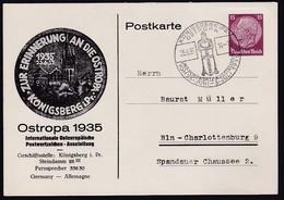 DR., Privat Ganzsache Ostropa 1935,  PP131-C2, Gelaufen. - Germany
