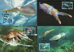 Nevis 2009 Mi 2380-2383  Max Card ( MAX ZS2 NVS2380-2383 ) - Fische