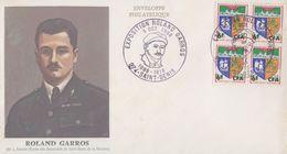Enveloppe    REUNION    Exposition   ROLAND  GARROS  SAINT  DENIS  1968 - Reunion Island (1852-1975)