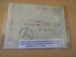 Feldpostbrief  Nr.17459 Marine-Nachrichten-Mittelberieb Riva(Gardasee)1944 - Documenti