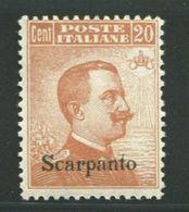 EGEO SCARPANTO 1917 20 C. S.F. SASSONE N.11 ** MNH - Egeo (Scarpanto)