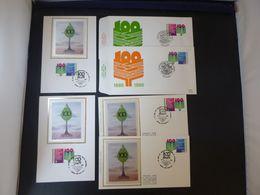 "BELG.1986 2238/2239 FDC's & Mcards Zijde-soie & FDC's : "" 100 J/an Syndicalisme Christelijk Belg. "" - 1981-90"
