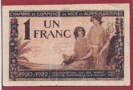 1 Francs  Chambre De Commerce De Nice Dans L 'état (18) - Chambre De Commerce