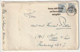 Alliierte Gemeinschaftsausgaben Michel Nr. 947 X2 Brief 7.8.47 Von Stralsund Nach Halle, 3 Scans, Werbestempel - Gemeinschaftsausgaben