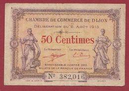 50 Cts  Chambre De Commerce De Dijon Dans L 'état (26) - Chambre De Commerce