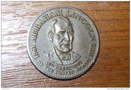 "Beau Jeton Bronze ""Abraham Lincoln"" US Token - Monarquía/ Nobleza"