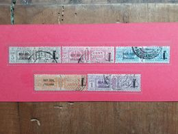 R.S.I. - 5 Pacchi Postali Timbrati + Spedizione Prioritaria - 4. 1944-45 Repubblica Sociale