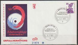 Berlin FDC 1972 Nr.404 A Unfallverhütung Kreissäge ( D 5017 ) Günstige Versandkosten - FDC: Briefe