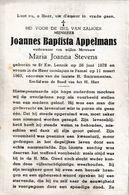 St.Kwintens-Lennik, Pamel, 1963, Joannes Appelmans, Stevens - Images Religieuses