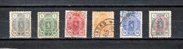 Finlandia  1889-95  .-  Y&T  Nº    28/33 - Gebruikt