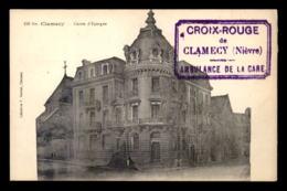 CACHET DE L'AMBULANCE DE LA GARE DE CLAMECY (NIEVRE) - Marcophilie (Lettres)