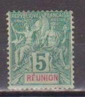 REUNION       N°  YVERT  35       NEUF AVEC CHARNIERES      ( CHARN  03/ 38 ) - Réunion (1852-1975)