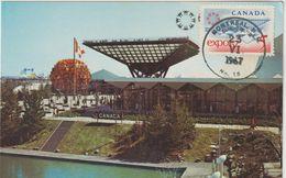 Carte Maximum CANADA N° Yvert 390 (EXPO 67) Obl Sp Montréal Gd Ft 23.6.67 (Ed Plastichrome 200) - Maximumkaarten